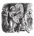 jesus heals a sick man at the pool of bethesda vector image vector image