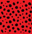 ladybug polka dot background vector image