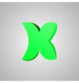Letter X comic style font EPS10 vector image