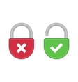 Lock open and closed icon vector image vector image