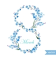 March 8 spring flowers card symbol mimosa vector image