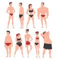 men and women in underwear set different human vector image