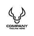 modern head bull logo vector image