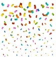 New confetti background vector image vector image