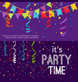 new year and christmas party banners set vector image vector image