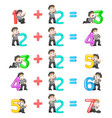 number increment from 3 until 7 vector image vector image