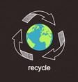recycling worldwide vector image