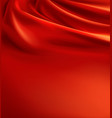 red fabric background luxury silk cloth vector image vector image