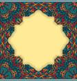 retro boho floral frame vector image vector image