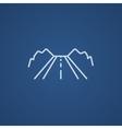Road line icon vector image vector image