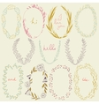 romantic set of circle floral borders vector image vector image