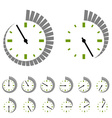 round timer symbols vector image vector image