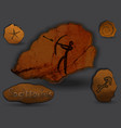 sagittariuszodiac in the form of cave painting vector image vector image