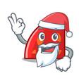 Santa quadrant mascot cartoon style