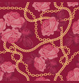 seamless pattern background with golden chains and vector image vector image