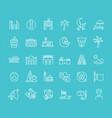 set line icons bahrain vector image