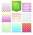 set of colorful template for a business card vector image vector image
