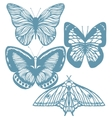 set of hand-drawn butterflies vector image vector image