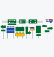 set road signs isolated for brochure vector image