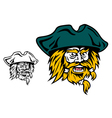 Shouting pirate captain head vector image vector image