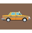 taxi car side view brown background vector image vector image