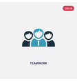 two color teamwork icon from strategy concept vector image vector image