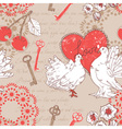 Valentine retro seamless pattern with hearts vector image vector image
