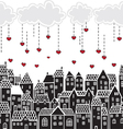 Valentines Day in the city vector image