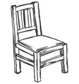 vintage old chair vector image