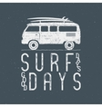 Vintage Surfing Graphics and Poster for web design vector image vector image