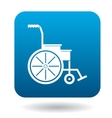 Wheelchair icon in simple style vector image vector image