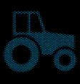wheeled tractor collage icon of halftone spheres vector image vector image