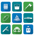 white color flat style various camping icons vector image