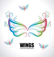 Wing design vector image