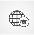 world education icon sign symbol vector image