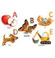 alphabet for kids vector image