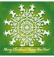 background with snowflake with goat symbol of 2015 vector image