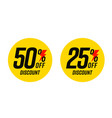 50 and 25 percent price off discount for economic