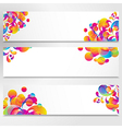 Abstract banner with bright teardrop-shaped arches vector image