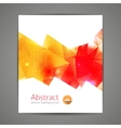 Abstract triangle 3D geometric colorful graphic vector image
