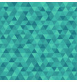 abstract triangle in green background vector image vector image