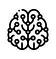artificial intelligence brain sign icon vector image vector image