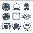 Award badges icon set vector image