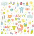 Baby Boy or Girl Design Elements vector image vector image