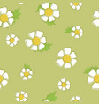 background of chamomiles seamless pattern of vector image vector image