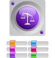 Balance color round button vector | Price: 1 Credit (USD $1)