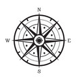 black and white compass vector image vector image