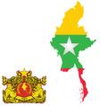 Burma Flag vector image vector image