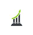 business finance arrow chart logo 2 vector image vector image