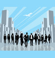 business people in the city vector image